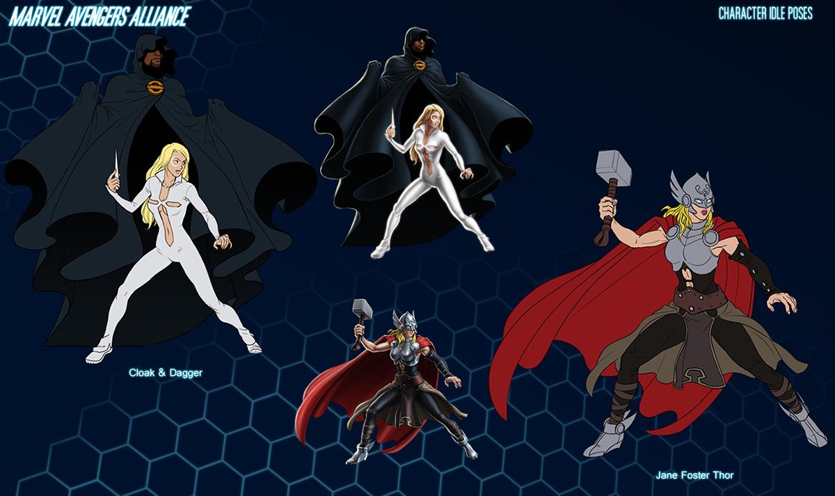 Marvel Character Design Behance : Marvel avengers alliance characters on behance