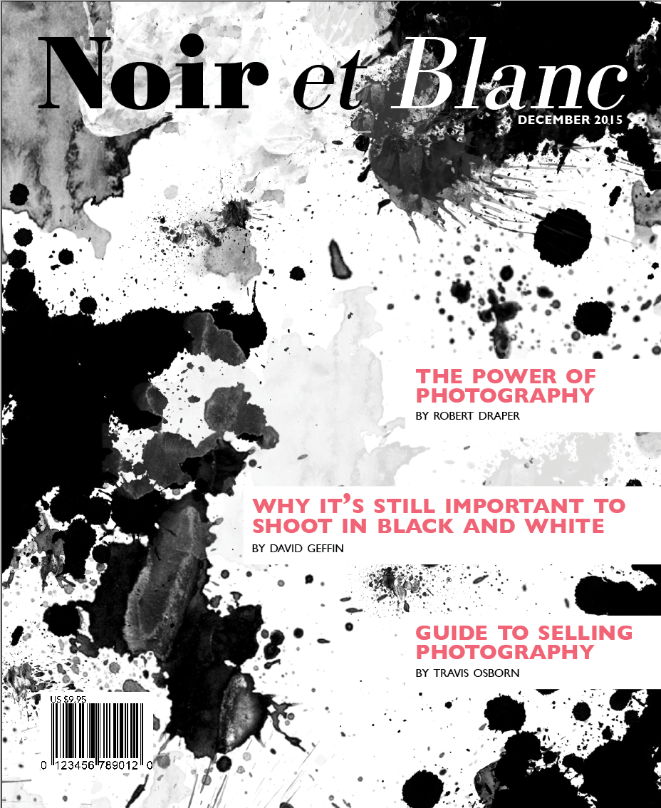 Photo Noir Et Blanc Design noir et blanc magazine design on behance