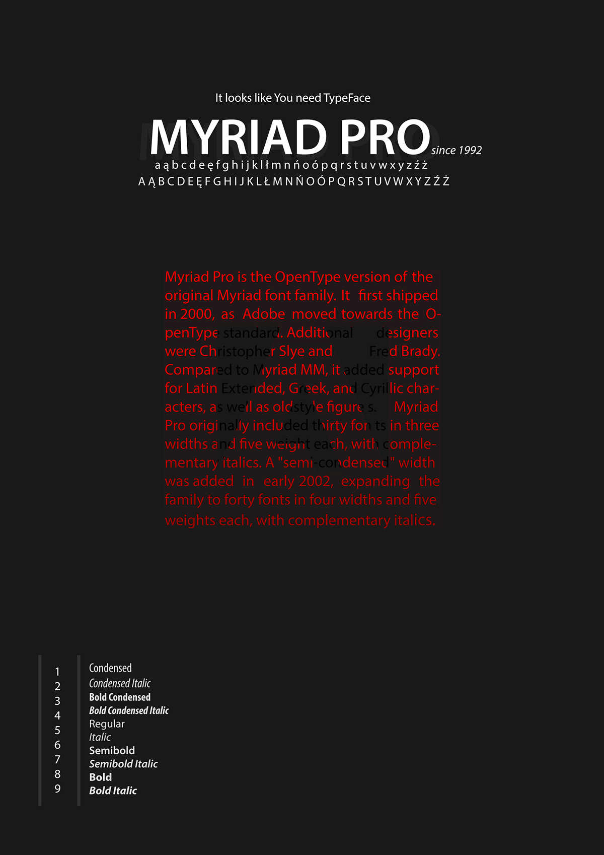 Myriad Pro posters | Gathiar Art on Behance