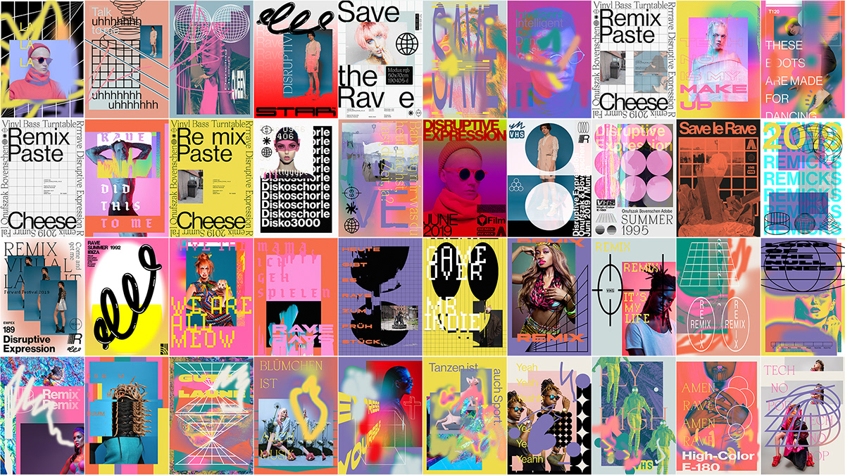 motion graphics  adobe animation  poster typography   motion graphicdesign 90s Fashion  styleframes