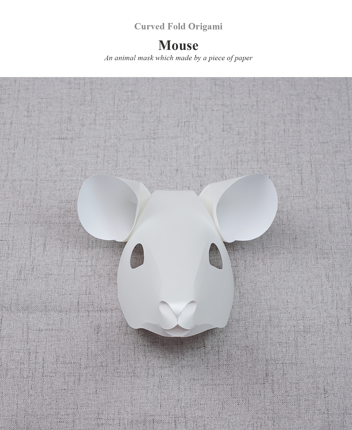 Curved Fold Origami - Mouse on Behance on
