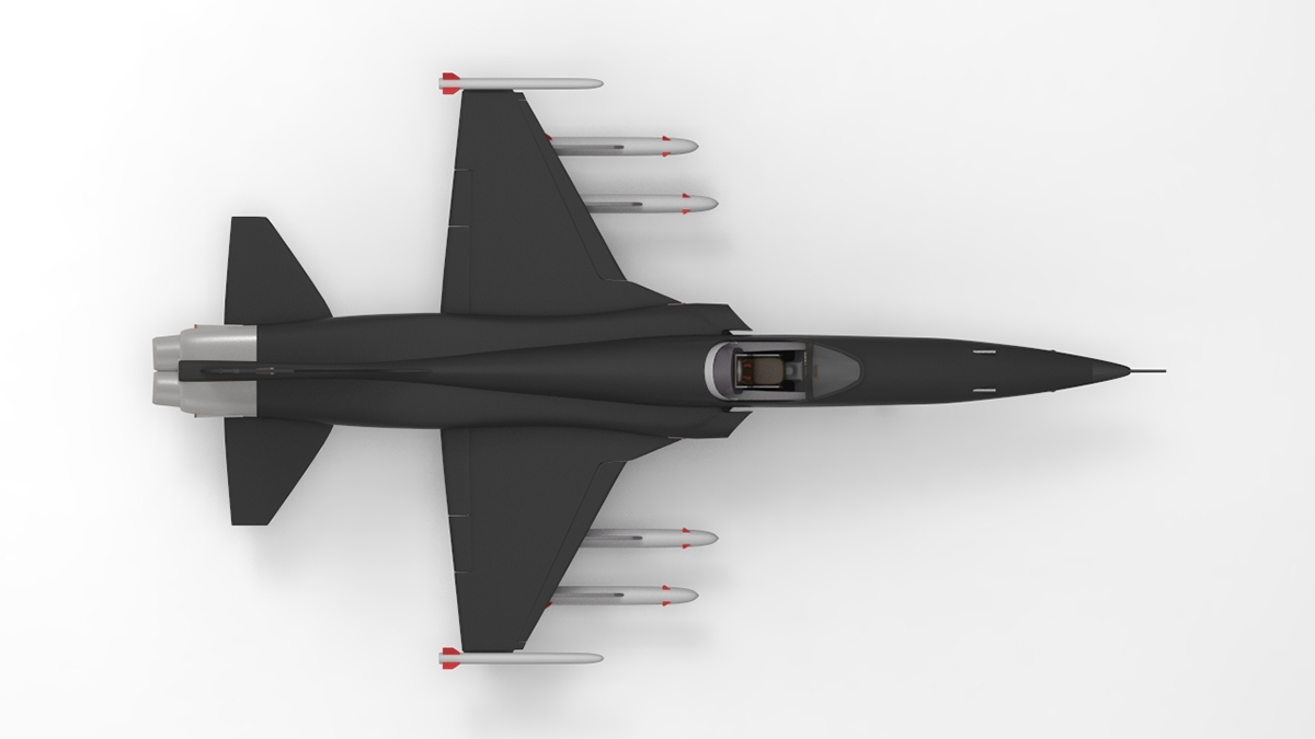 northrop Top Gun 3D tunrtable keyshot