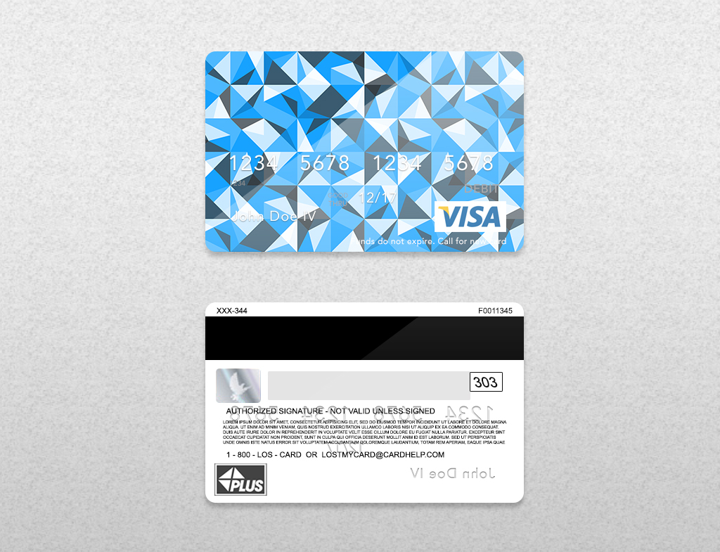 Bank Card PSD Template On Behance - Blank visa credit card template