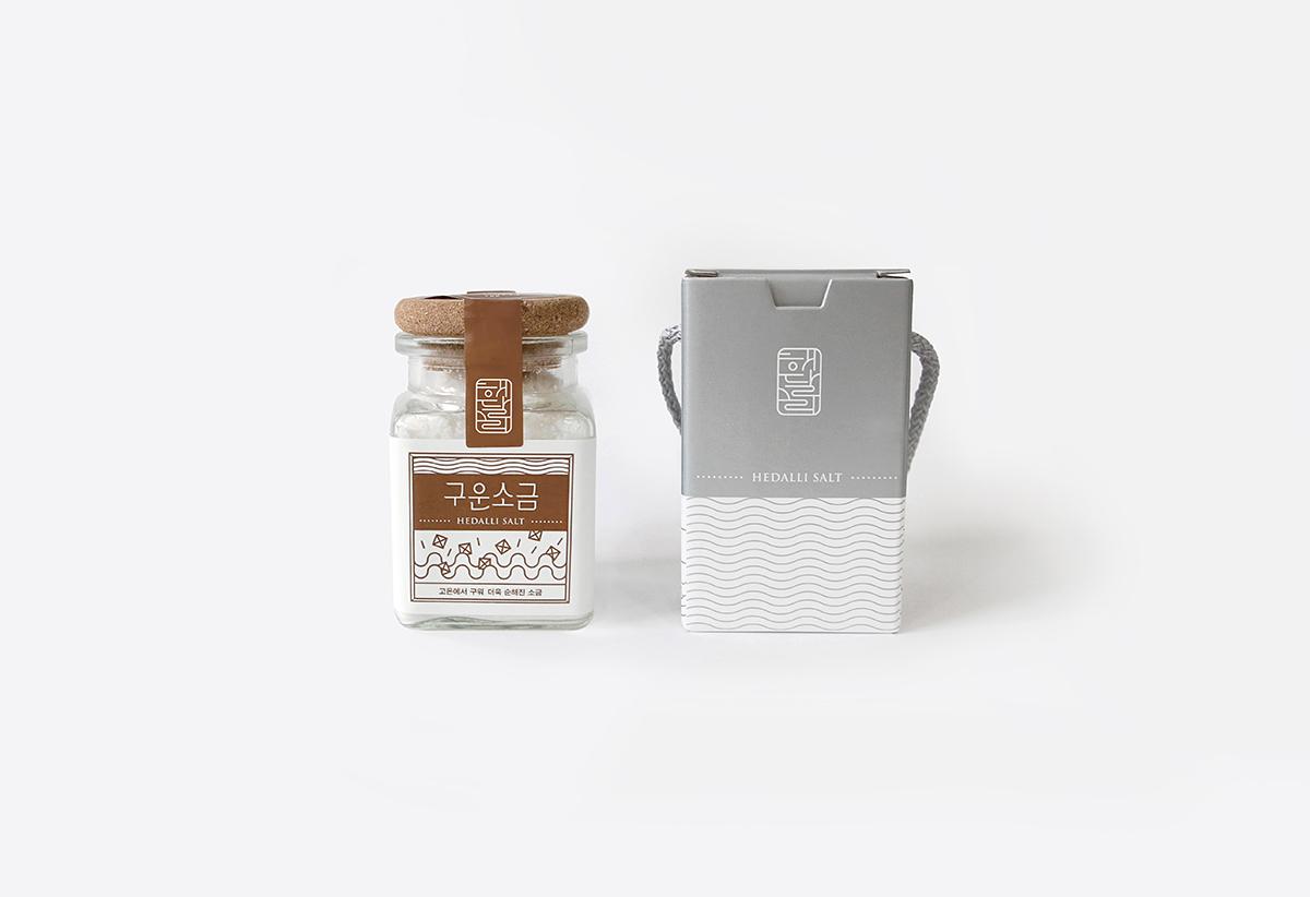 identity logo typo Salt package graphic illust Label BI CI bottle Korea