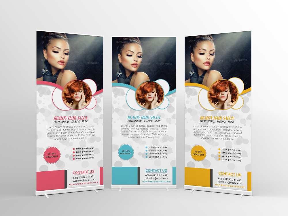 Hair Salon Roll Up Banner Design On Behance