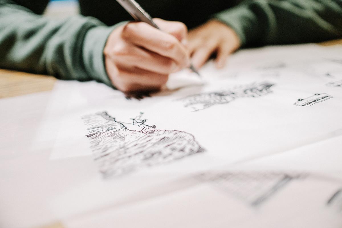 Image may contain: person, drawing and handwriting