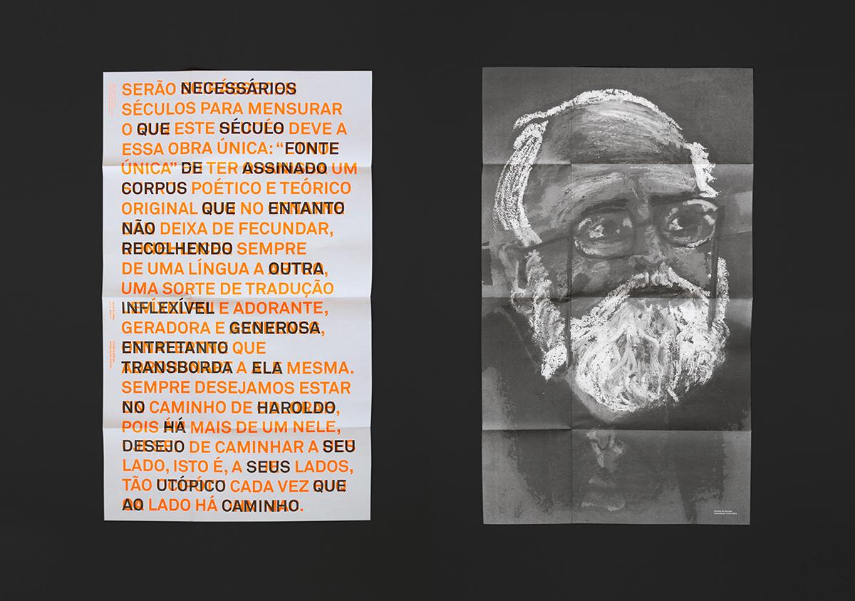 revista magazine editorial print fluor fluorescent orange neon overprint translation CISMA Independent journal literature haroldo
