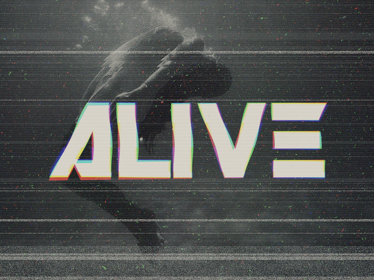 VHS - RGB Glitch Text Effect on Behance