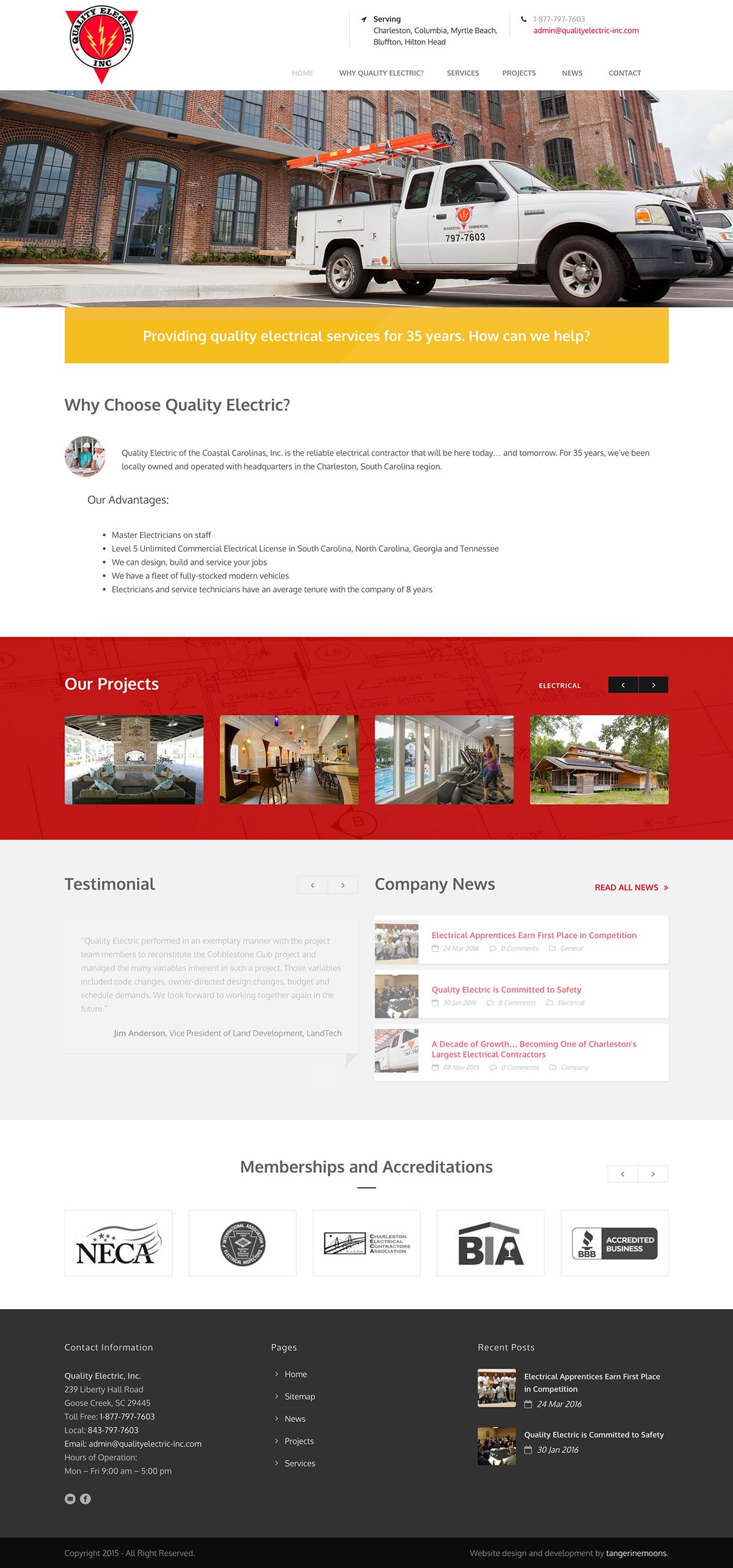 Quality Electric, Inc. website