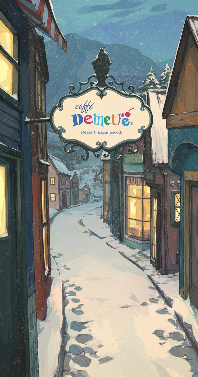menu design winter cafe caffe demetre town village restaurant dessert Food