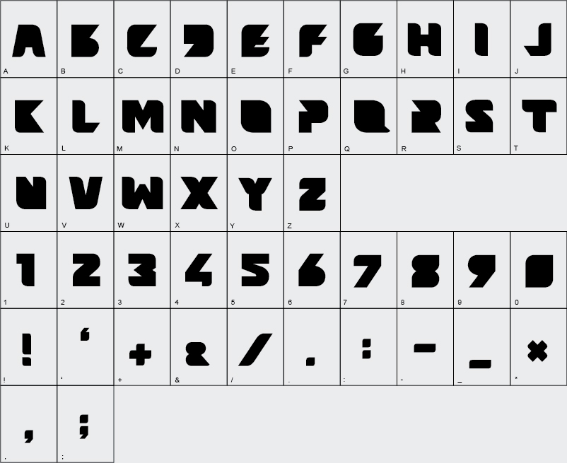 font Typeface free design futuristic capital bold new poster big heading Headline Space  beams