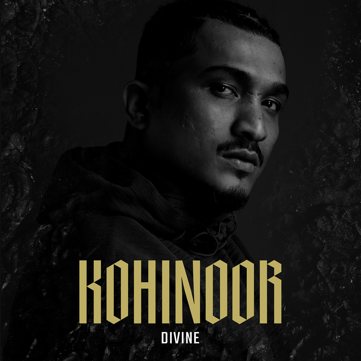 album cover black and white divine hip hop kohinoor  MUMBAI photoshoot portrait rap rapper