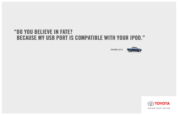toyota pickup lines on behance