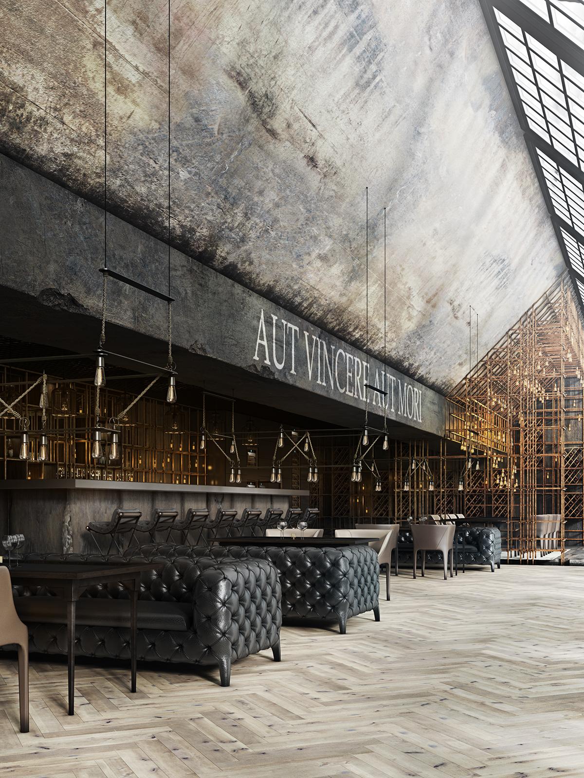 Restaurant aut vincere aut mori on behance for Industrial design amsterdam
