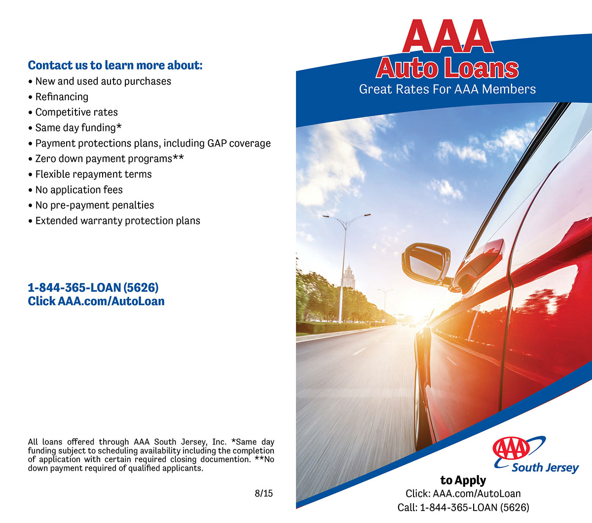 Aaa Car Loans >> Car Loan Brochure On Behance