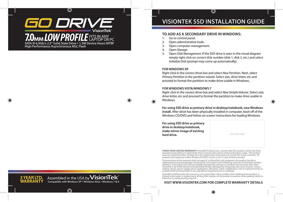 Packaging Design: VisionTek 7mm Go Drive on Behance