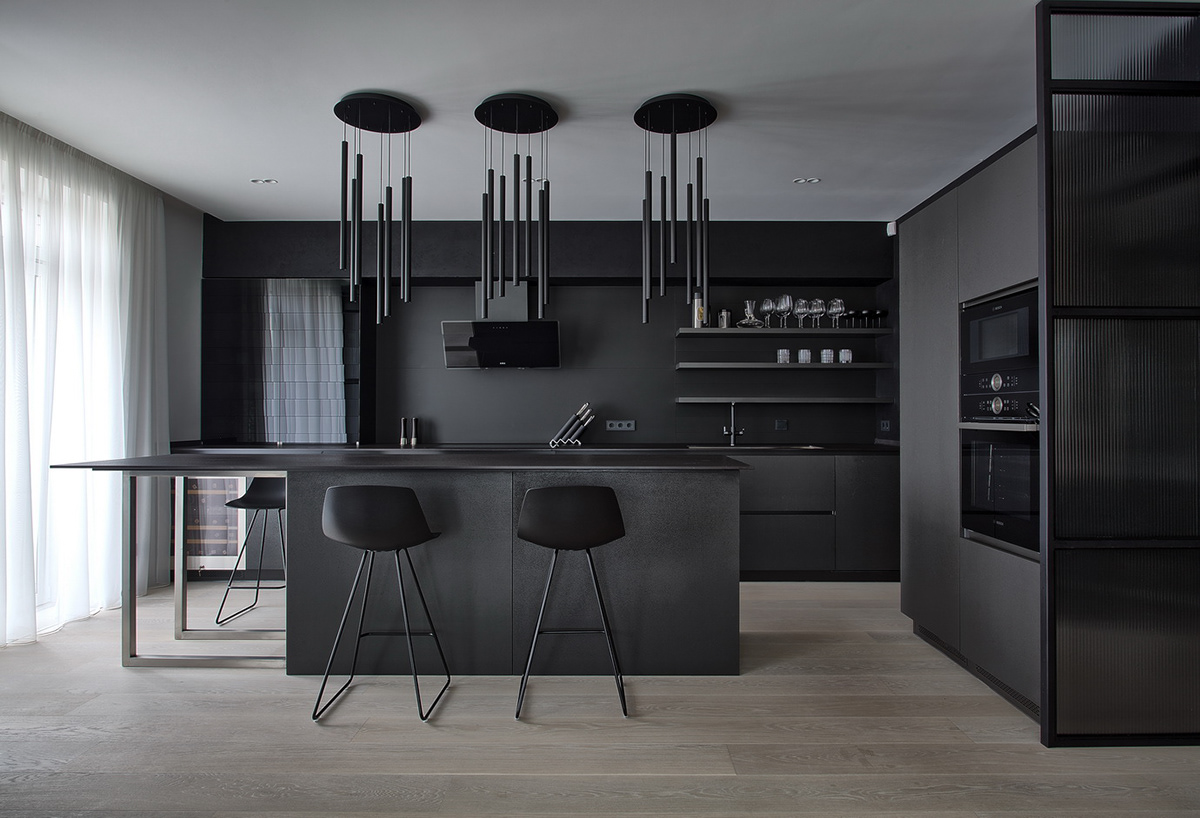Kitchen Black Cement By Anova On Behance