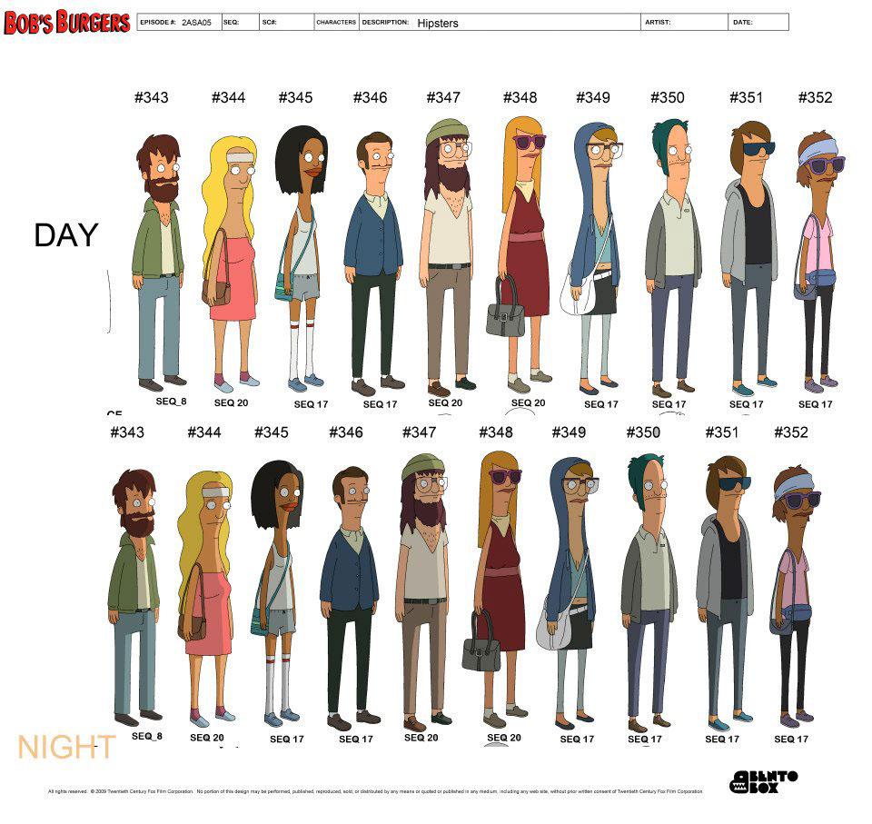 Bob S Burgers Character Design