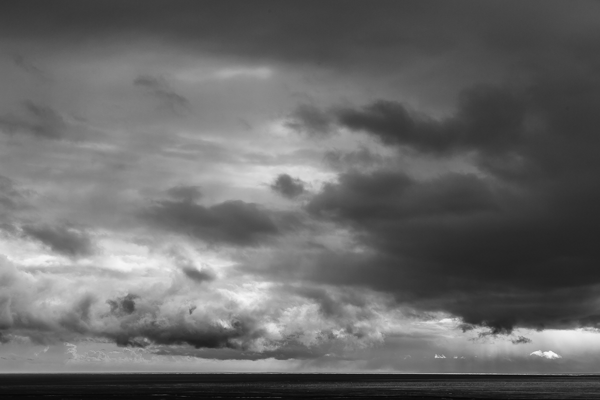 waterfall dark black White Nature mountain clouds sea iceland