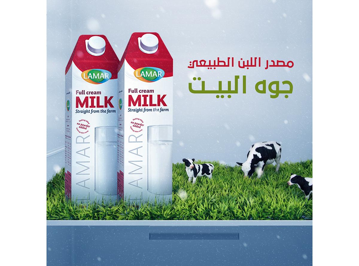 Advertising  lamar ads social media typography   Calligraphy   app سوشيال ميديا wacom Drink milk