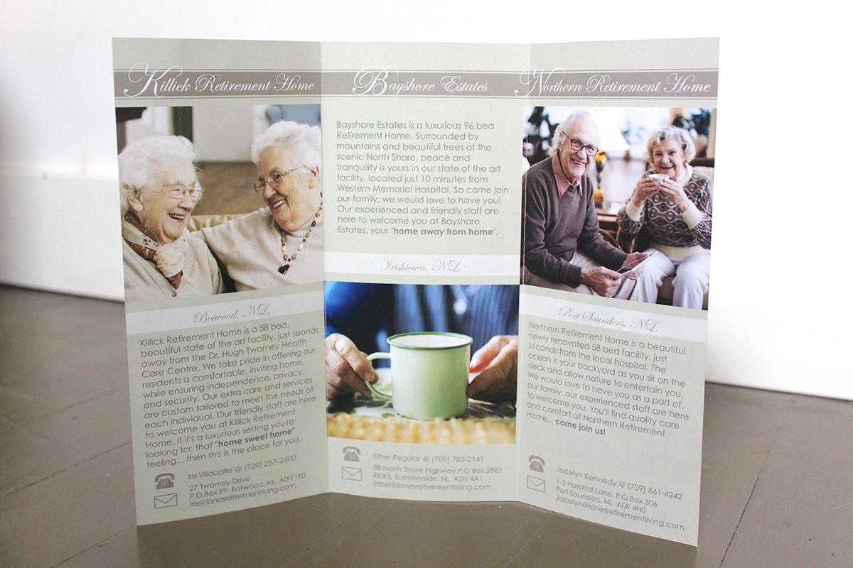 Brochure Design For Retirement Home on Behance