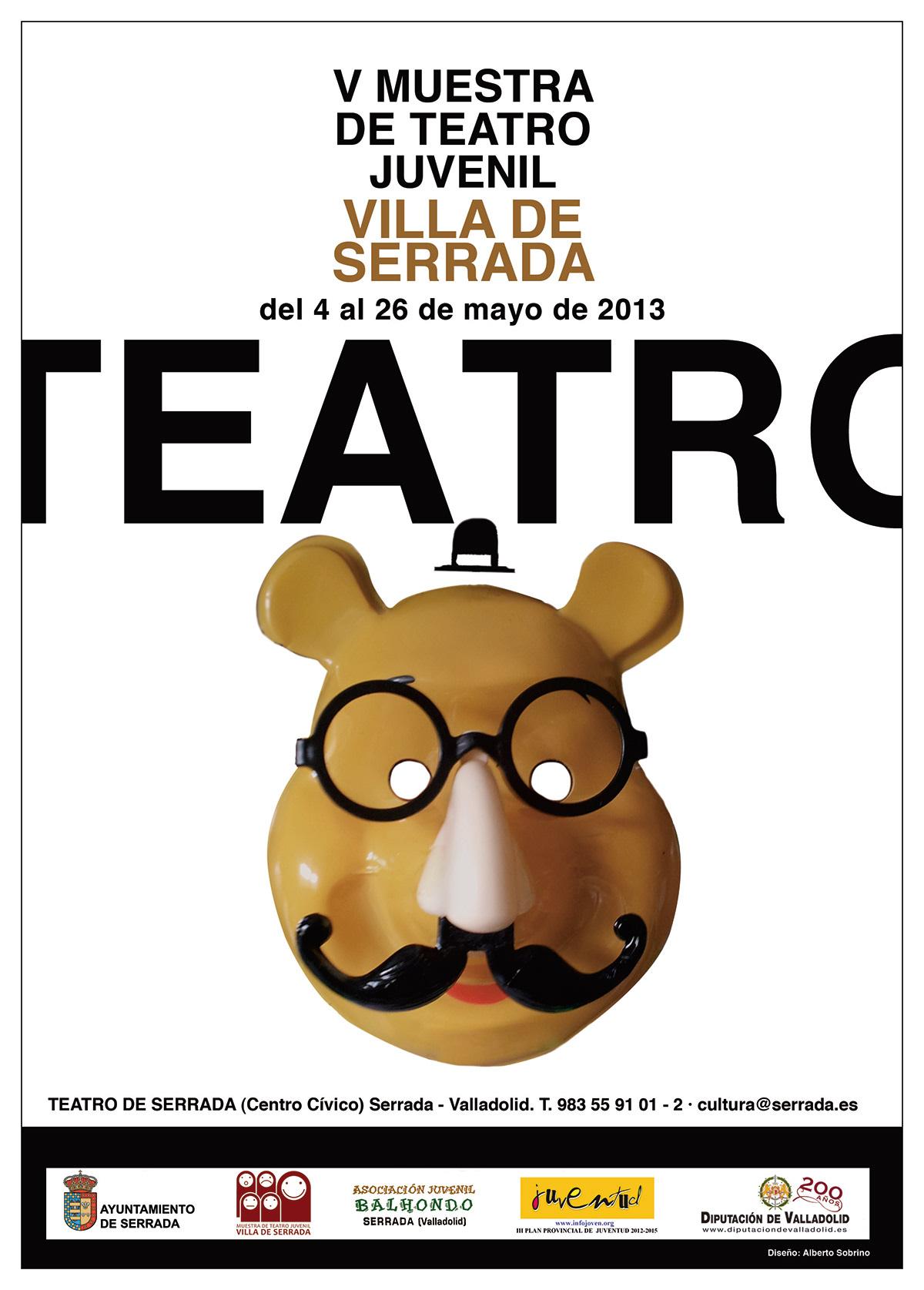 cartel ilustracion juvenil teatro