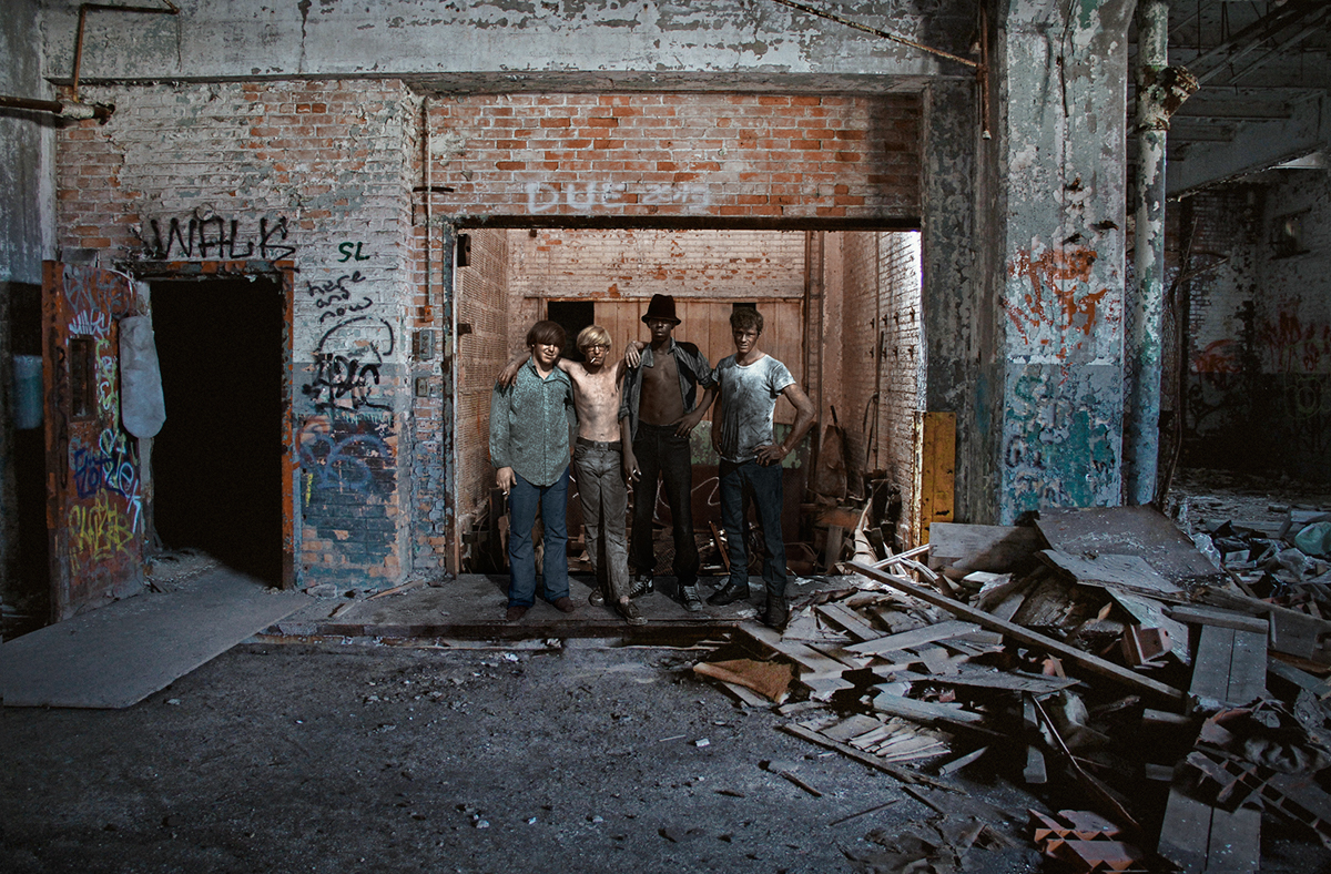 detroit Before After time travel Abandoned Buildings today retouch conceptual photography fine art photography detroit workers factories surreal Ps25Under25