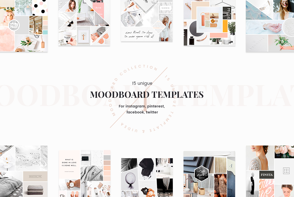 mood board templates on behance