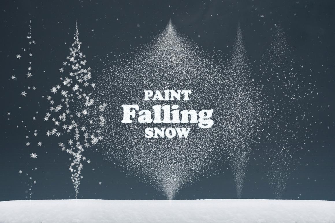 snow brush frozen effect flakes Flake falling snowscape photoshop winter