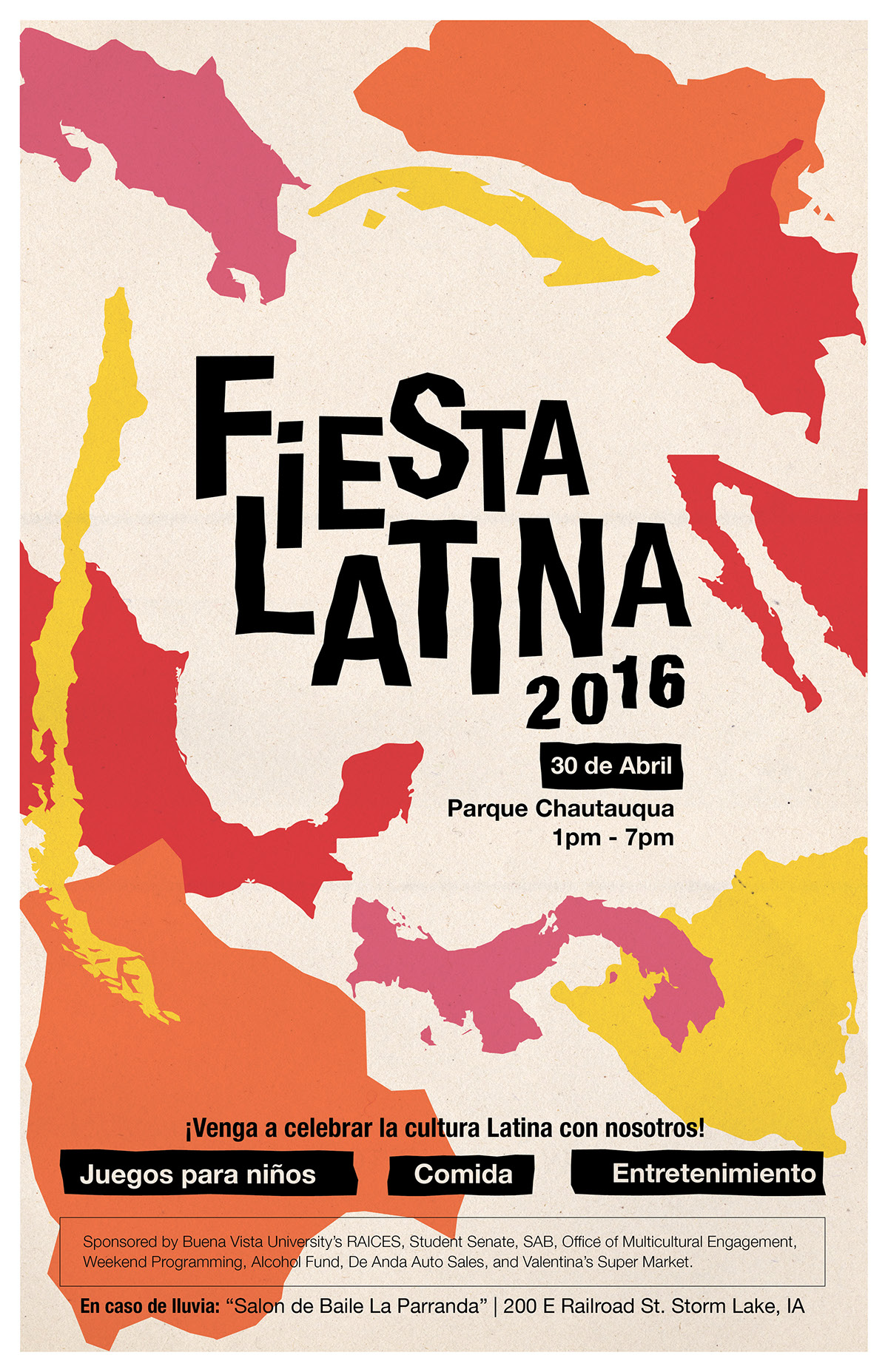 Event Poster Fiesta Latina 2016 on Behance