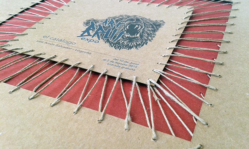 art brut Exhibition  expo supergráfica lonas canvas señaletica encuadernacion Bookbinding logo outsider marginal Event brochure