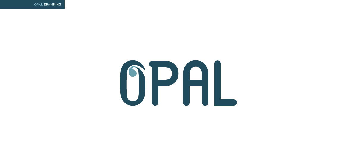 logo stationary opal pools baths water aqua