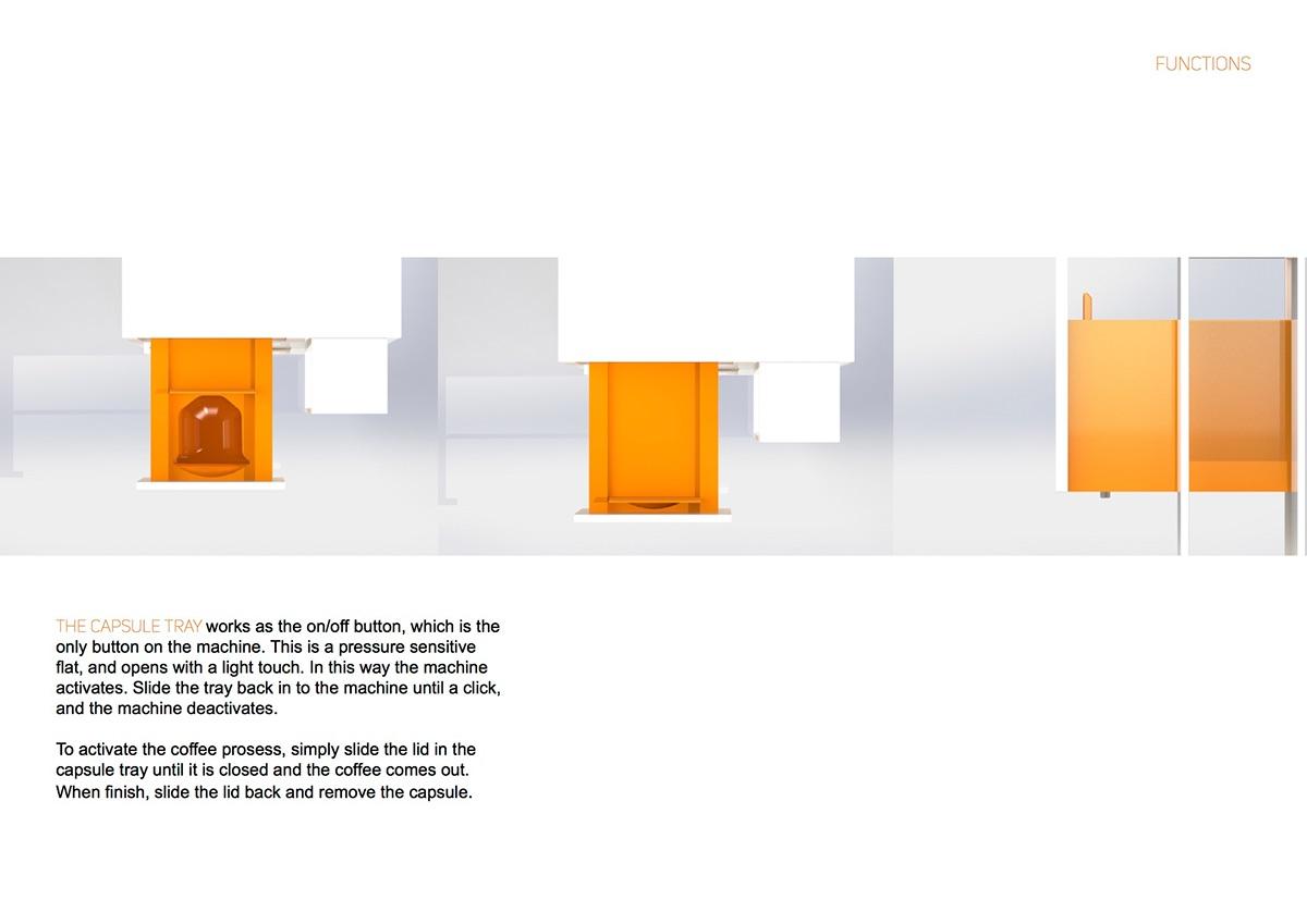 product Coffee machine capsule machine design Coffee Technical Drawings