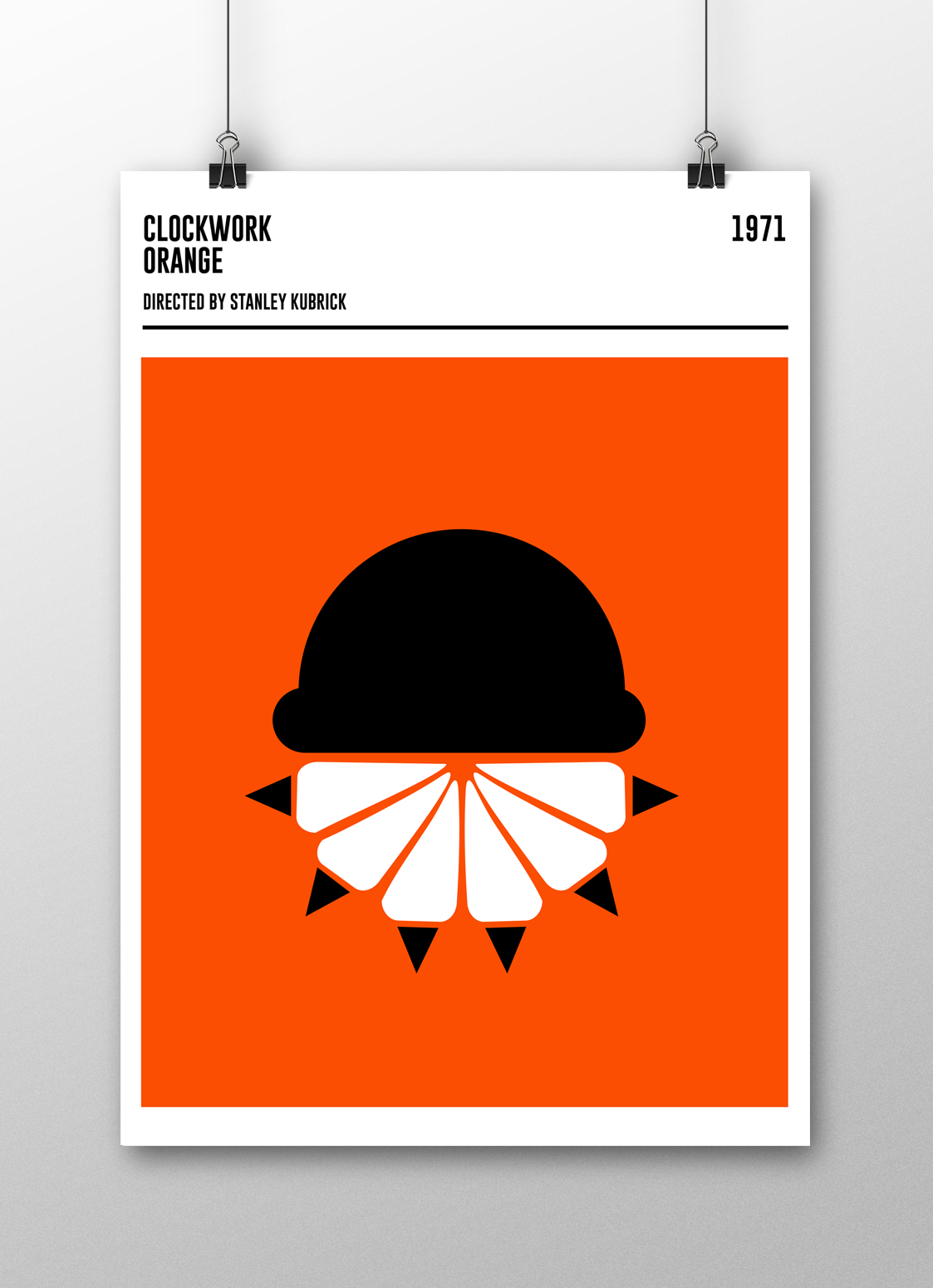 geometric movie posters on behance