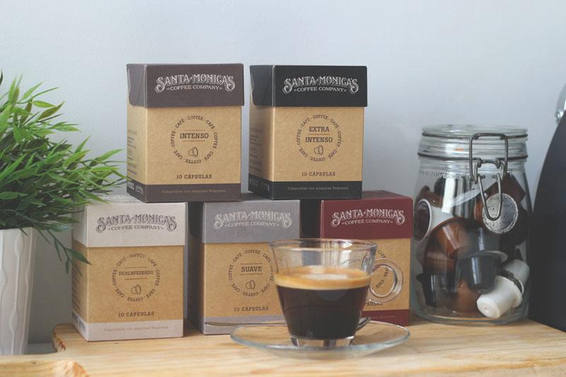 box envase Pack Coffee company santamonica valencia round Nespresso breakfast design ilustracion craft ofsset