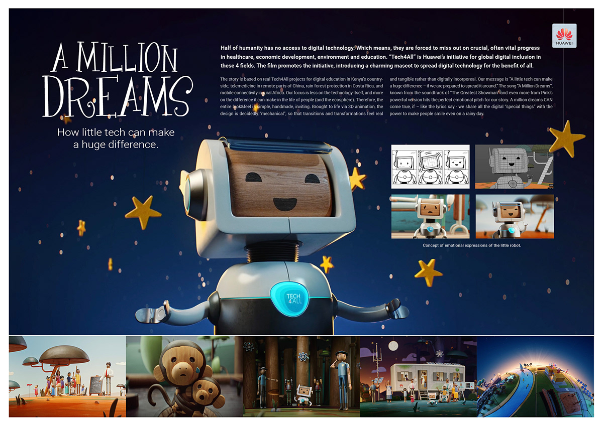 animation  huawei ogilvy robot tech4all Technology WPP