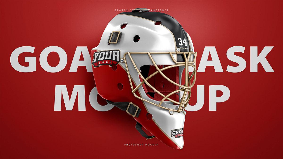 Hockey Goalie Mask Mockup Psd Template On Wacom Gallery