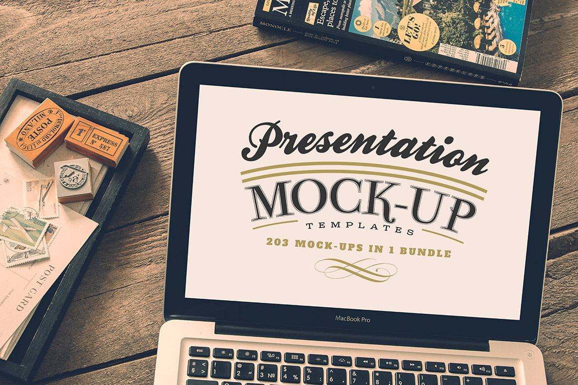 203 photoshop presentation mock-up templates on behance, Presentation templates