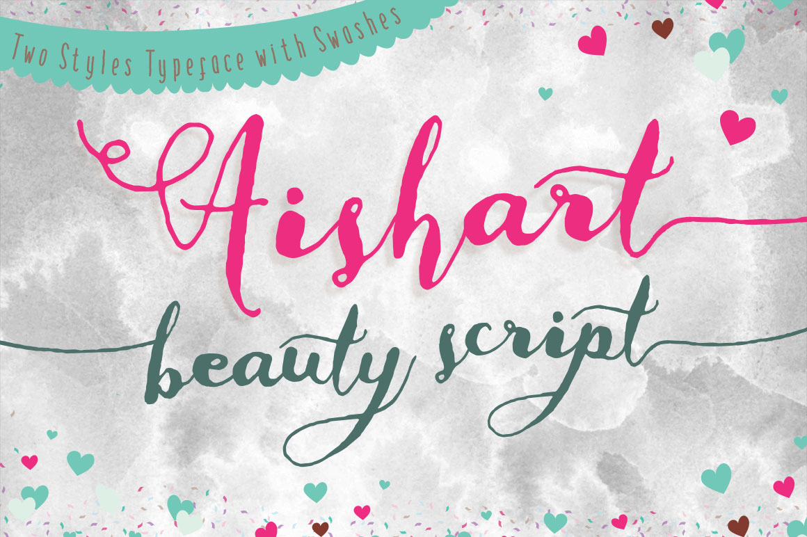 Aishart modern calligraphy typeface on behance