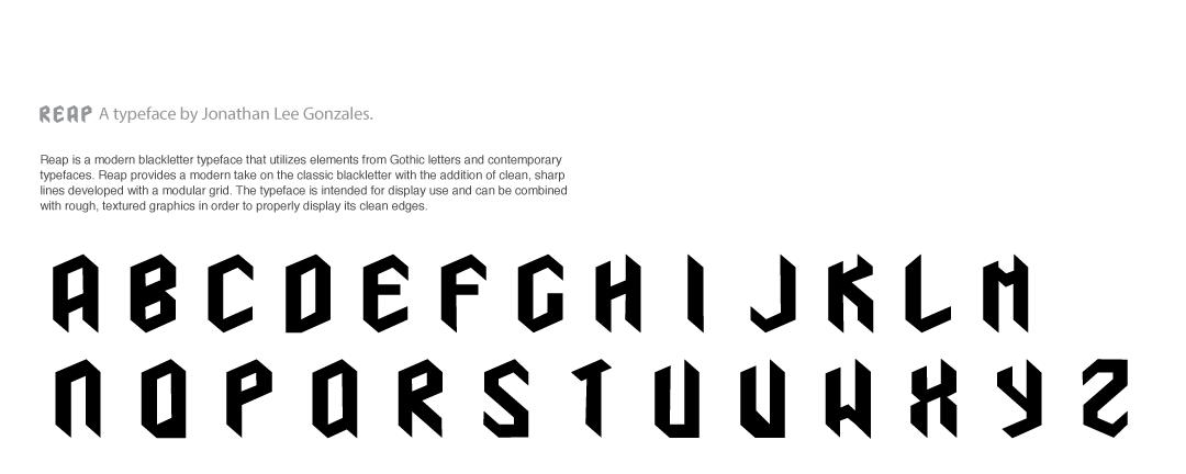 Reap A Modular Typeface On Behance