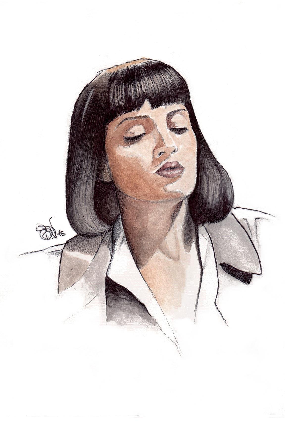 Mia Wallace Uma Thurman In Pulp Fiction On Behance
