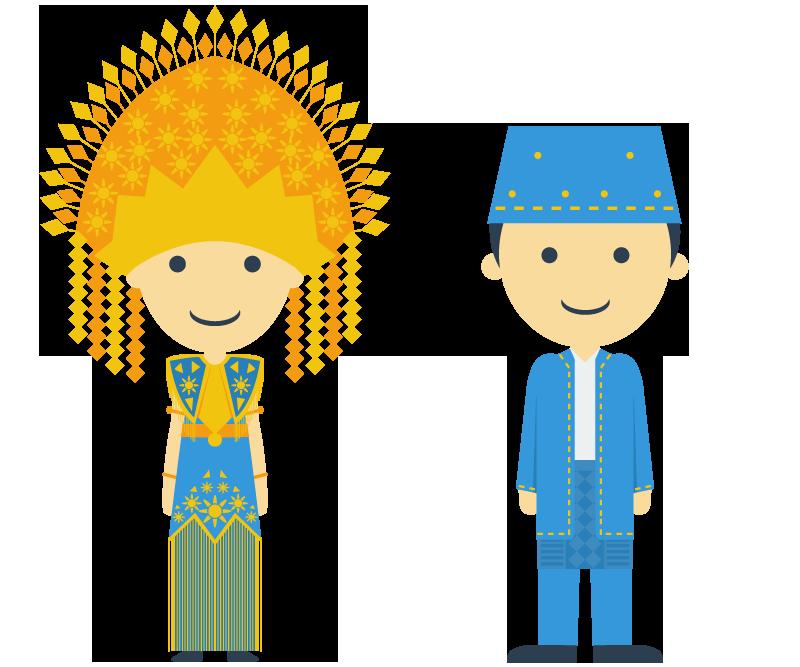 indonesia wordpress bootstrap flat ui flat design free vector download tradition culture sumatera Jawa Kalimantan Sulawesi Papua