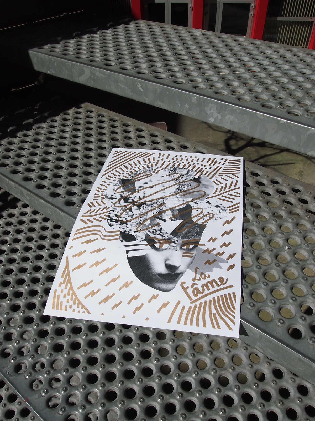 Riso Print silk-screen collage