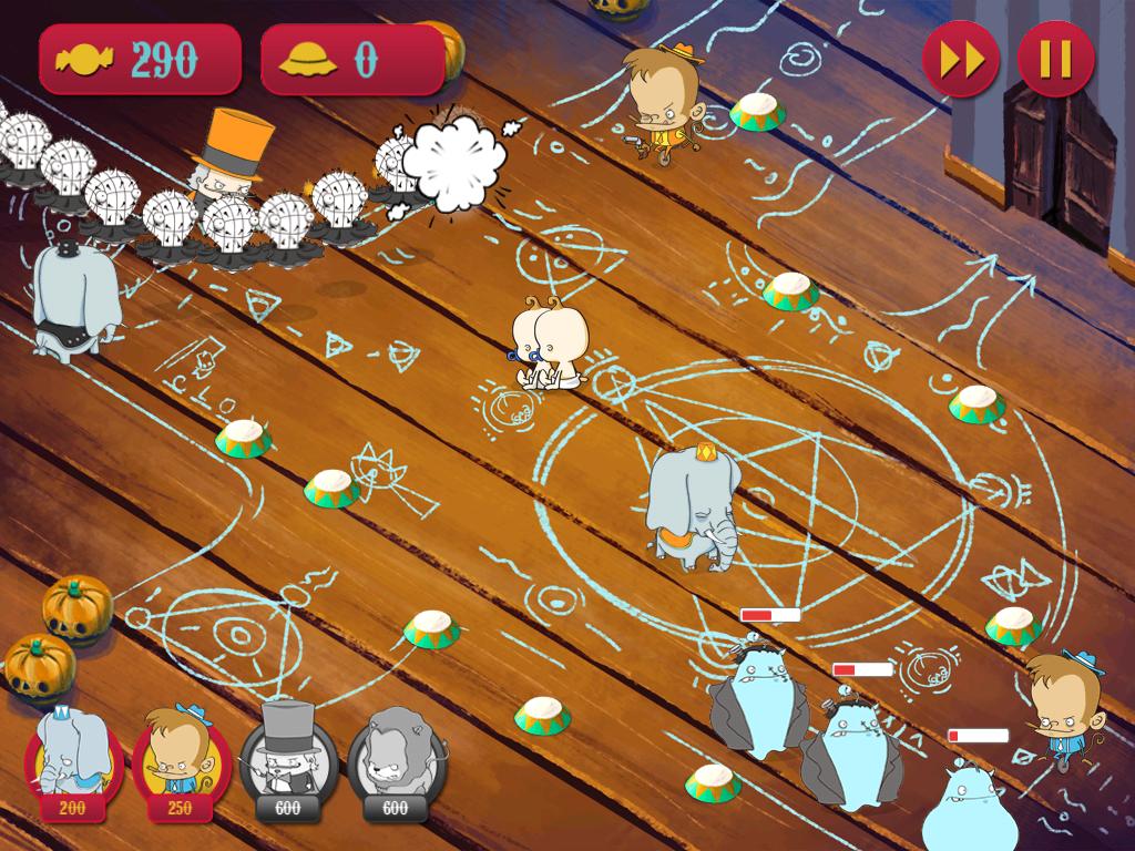 Clowns ios iPad iphone apple Circus Tower Defense defense game Indie game Halloween Matte Painting digital painting Intuos wacom alien