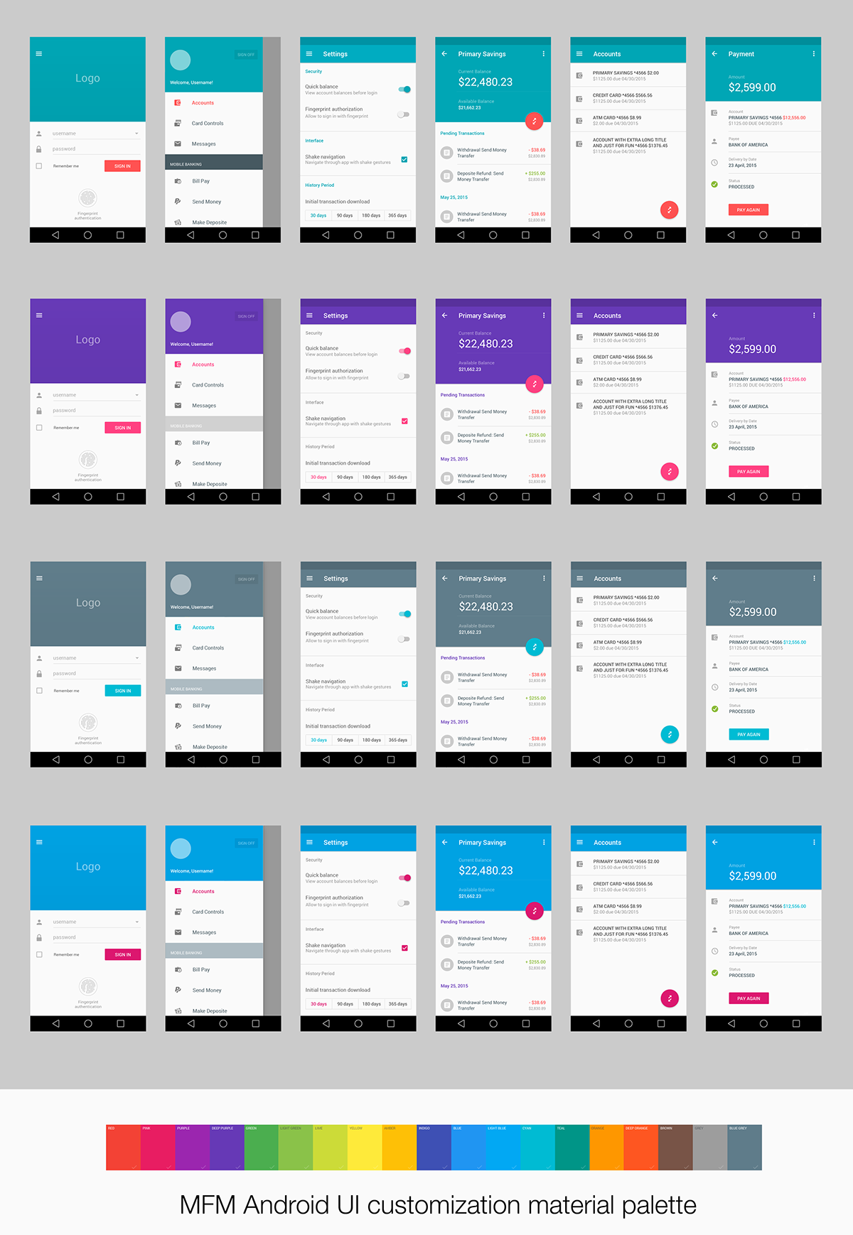 Material Design Ui For Finance App On Behance