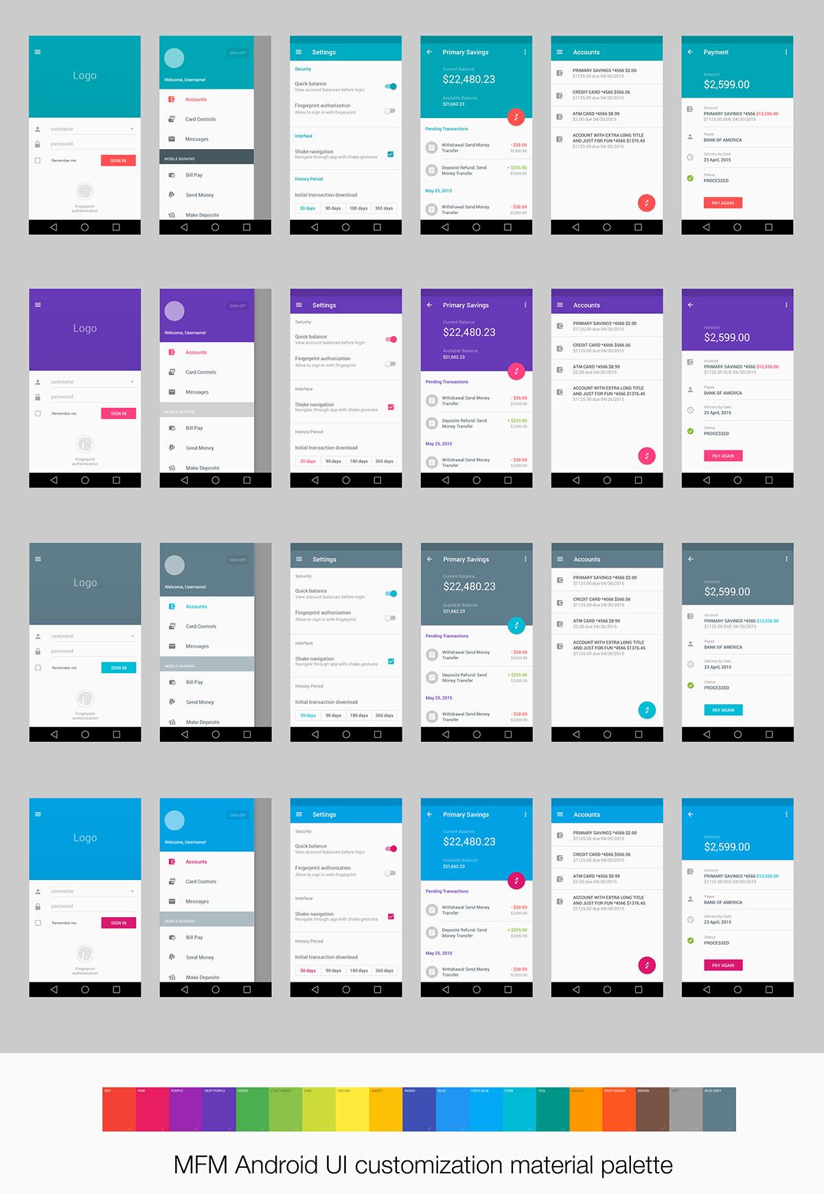 Material Design Ui For Finance App On Behance