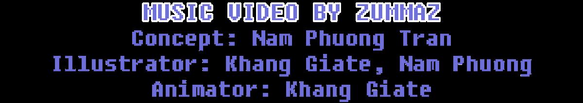 8bit Character design  chibi cute giate house music video pixel video game zummaz