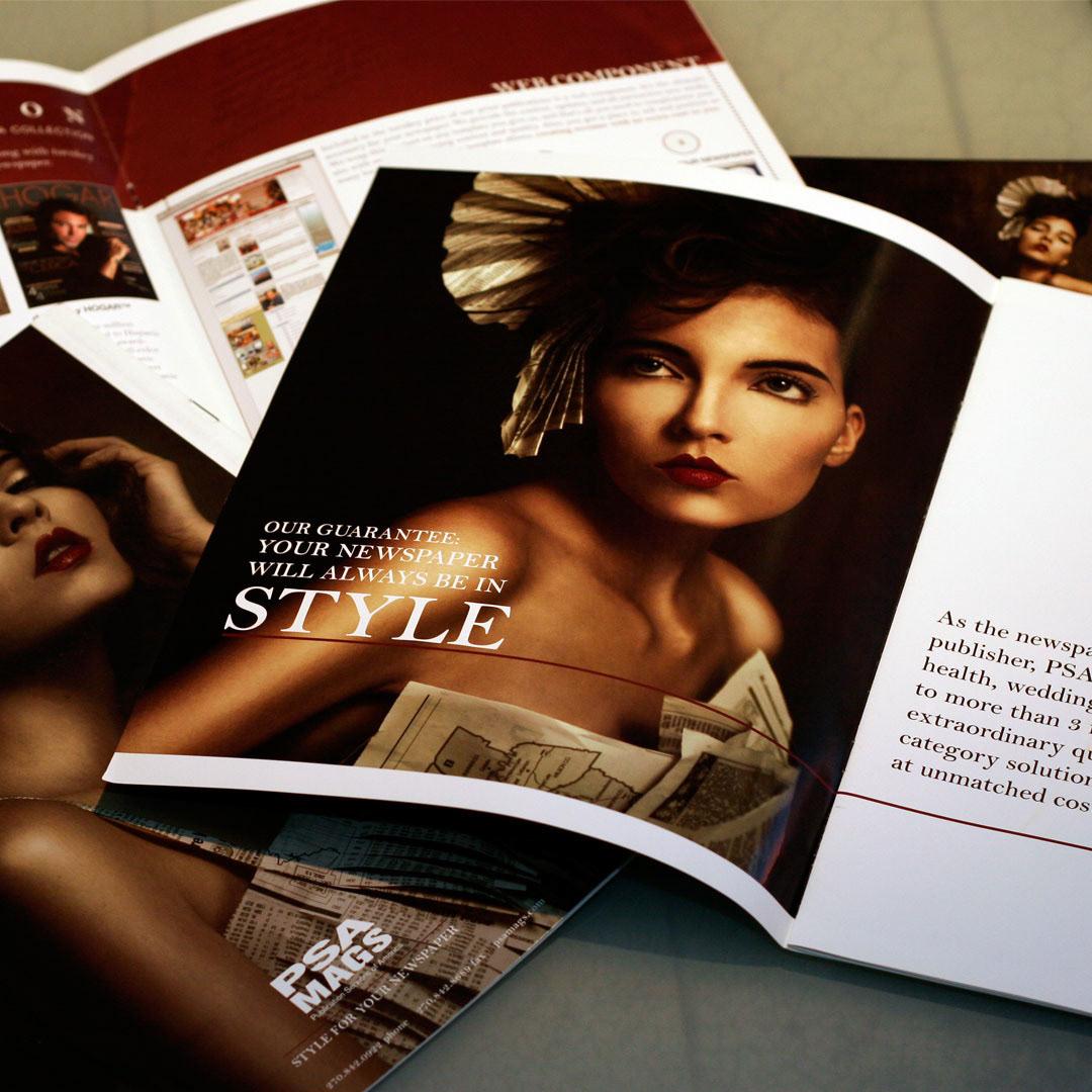 psa magazine brochure postcard discerning sophisticated Style