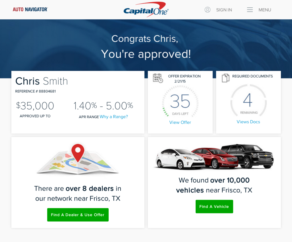 capital one auto navigator sign in