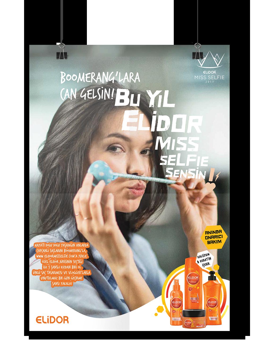 Website elidor Unilever miss selfie instagram Boomerang Competition hair cosmetics beauty pageant